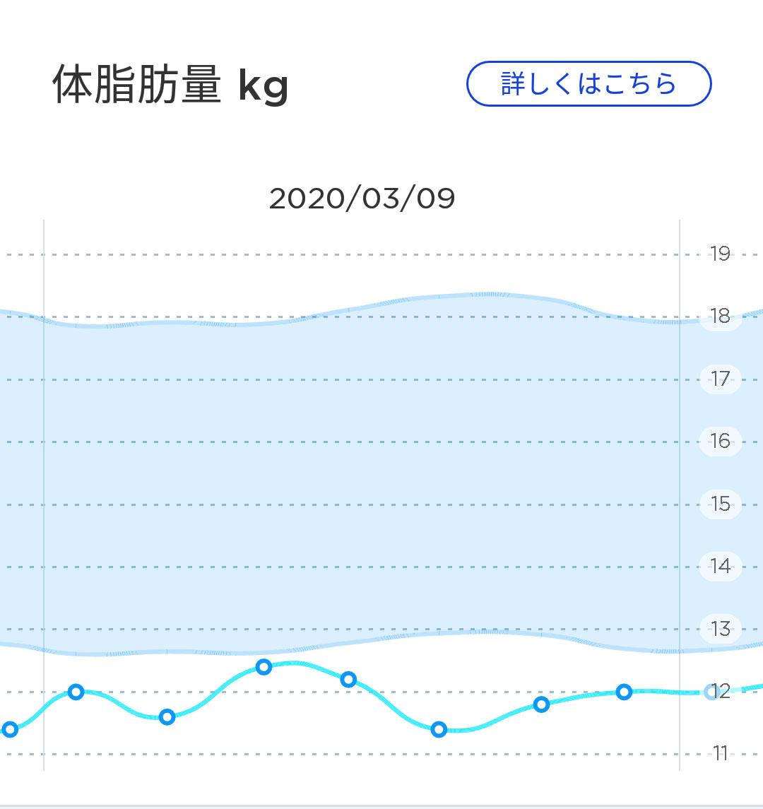 1週間の体脂肪の変化