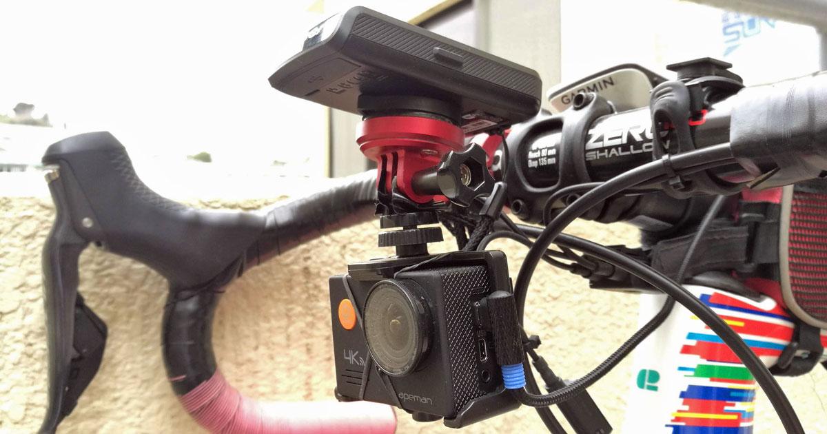 Apeman A79をロードバイクにマウント